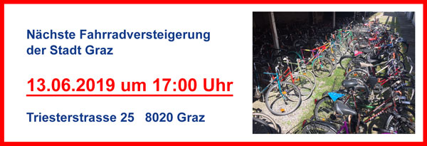 Fahrradversteigerung 13.06